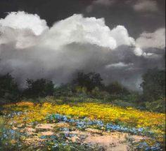 "Paul Murray ""Wet Land"" pastel painting 12 x 13, Won the New York Art Supply Award, Pastel Society of America."