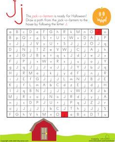 Worksheets: Letter Maze: A - Z