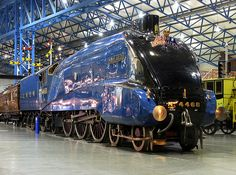 The London Northern Eastern Railway Pacific Class designed by Sir Nigel Gresley in the This particular example No. 4468 Mallard claimed the world speed mph) for a steam locomotive on the of July Diesel Punk, National Railway Museum, National Museum, Train Pictures, Best Funny Pictures, Rail Transport, Class Design, Train Car, Train Travel