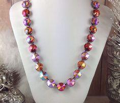 Sunset PixieDust Premium Swarovski Crystal Designer Quality Necklace Cup Chain #Handmade #Choker