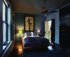I like moody bedrooms. Required Reading: Things We Made, by Roman & Williams : Remodelista