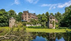 Live like a royal: sprawling Caverswall Castle is listed for sale with moat, dungeon and quirky 'holiday lets' in the turrets Unusual Buildings, Antebellum Homes, Gym Room, Gate House, Unusual Homes, Water Tower, West Midlands, Medieval Castle, Property For Rent