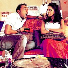 A still of Rahul Bose and Mallika Sherawat in a comical moment from Pyaar Ke Side Effects!
