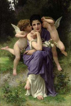 William Adolphe Bouguereau (French, 1825-1905), Chansons de printemps