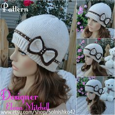 Knitting pattern for beanie hat with bow in baby, child, adult sizes on Etsy (affiliate link) tba