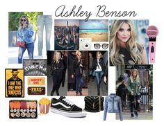 ashley benson by anacezario10 on Polyvore featuring moda, Le Lis Blanc, Vans, Yves Saint Laurent, Prada, Pottery Barn and Fujifilm