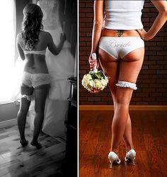 I think every groom deserves a romantic sexy picture like this from their bride!! (: