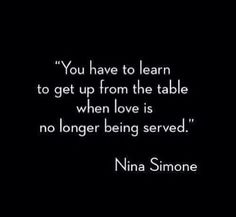 Love is no longer served...