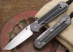 Chris Reeve Knives: Large Sebenza 21 - Tanto - Micarta Inlay