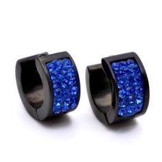 K gioielli Mega 14X14mm acciaio inox blu cristallo nero borchie Hoop Mens orecchini E275 K Mega Gioielli http://www.amazon.it/dp/B00CQ13RNS/ref=cm_sw_r_pi_dp_lxehvb130Z0JG