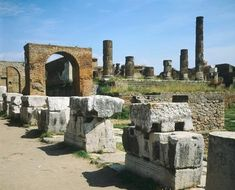 *POMPEII,ITALY ~ The Temple of Jupiter and the two triumphal arches, Pompeii (UNESCO World Heritage List, 1997), Campania. Roman Civilization, 1st Century.