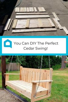 This swing is the perfect addition for your backyard this summer! With some wood, a few tools and a set of helping hands, you can DIY this project. The Perfect Pergola Swing. Woodworking Lamp, Intarsia Woodworking, Woodworking Projects, Woodworking Basics, Woodworking Machinery, Fresco, Outdoor Projects, Diy Projects, Project Ideas