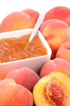 Homemade #Peach Jam - 2 ingredients!