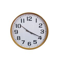 White Wooden Wall Clock 40cm-living-cravehome