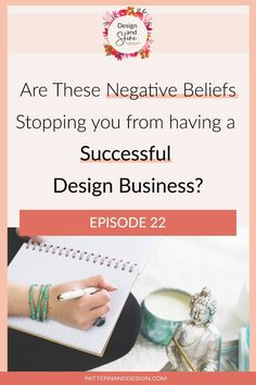If you want to be a successful designer then you need to start stepping up and doing the actions that a successful designer would do, starting with your thoughts and beliefs. In this episode of the Design and Shine Podcast, we are going to talk about how your negative self-talk is stopping you from being successful and how you can reframe your thoughts so you can reach your full potential. Kids Patterns, Textures Patterns, Floral Patterns, Business Design, Creative Business, Inspiration For Kids, Surface Pattern Design, Repeating Patterns, Geometric Designs