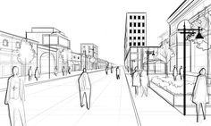 architectural street scene layer