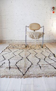 Vintage Moroccan Rug Natural virgin wool AZILAL por lacasadecoto, €475.00