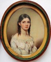 museums antique miniature paintings | Art - Antique Miniature Paintings / Portrait of Sophie Richards -1841 ...