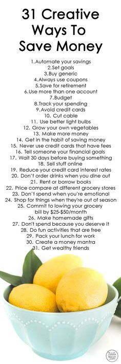 31 creative ways to save money