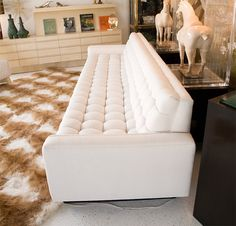 Monumental Custom Biscuit Tufted Sofa designed by William Haines   From a unique collection of antique and modern sofas at https://www.1stdibs.com/furniture/seating/sofas/