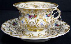 KPM Berlin Porcelain (Germany) —Tea Cup and Saucer   (700x438)