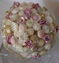 The High Society Princess Button Bouquet and Buttonhole | Lillybuds | madeit.com.au