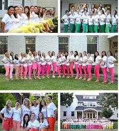 Colored pants with white v-necks! RECRUITMENT STYLE GUIDE! | sorority sugar