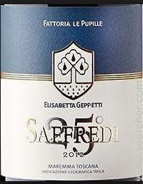 Red 2012 Fattoria Le Pupille (Elisabetta Geppetti) Maremma Toscana Saffredi