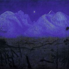 Harald Sohlberg. Winter Night in the Mountains.