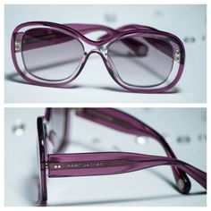 Authentic Marc Jacobs Violet Crystal Sunglasses BRAND NEW (never worn)!  Crystal Violet (purple) frame & arms.  Grey gradient lenses.  100% UV Protection.  Made in Italy.  Orig Retail: $270 Marc Jacobs Accessories Sunglasses