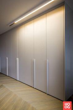 Penthouse at the Maas - HOOG.design - Exclusive living inspiration in the United Kingdom Bedroom Closet Doors, Wardrobe Room, Wardrobe Design Bedroom, Built In Cupboards, Modern Closet, Closet Remodel, Bedroom Cabinets, Cupboard Design, Interior Decorating