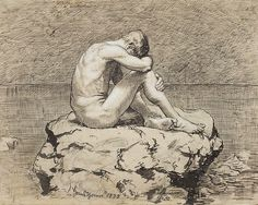 "Loneliness, Hans Thoma             ""Lonely is missing others; Alone is being with yourself"" ~Osho"