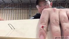 Carpenter Pulls Stapled Finger Prank so Perfectly On His Co-Worker | Gif Finder…