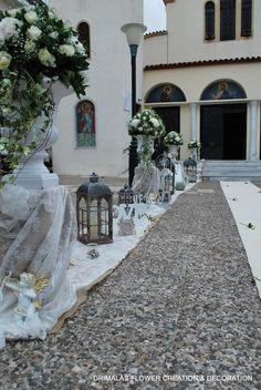 ρομαντικος στολισμος γαμου με αμφορεις Bouquet, Sidewalk, Wedding Ideas, Decor, Weddings, Decoration, Bouquet Of Flowers, Side Walkway, Bouquets