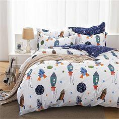 Boy's Space Rocket Cotton Bedding Set Price: 118.50 & FREE Shipping #hashtag1