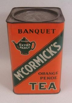 McCormick Orange Pekoe Banquet Extra Fancy Tea Tin