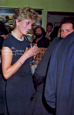 May 25, 1994: Princess Diana With Lord Linley and Kate MenziesAt The Alfred Dunhill Cigar Shop Promotion In Mayfair.