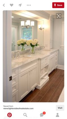 Love this bathroom - especially since it doesn't have wasted space! And easy to clean sinks.