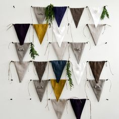 Is this not the most amazing way to display a bunting?! Available at DTLL now - free shipping.