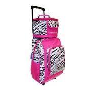 Love this zebra print! girls rolling backpacks - Google Search Girls Rolling Backpack, Girl Backpacks, Zebra Print, Google Search