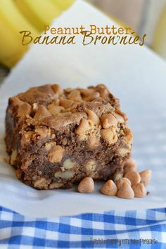 Brownies are already a to die for, but adding banana's and peanut butter make them extra moist and decadent!! - Little Dairy on the Prairie