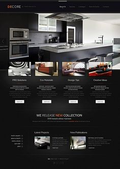 Kitchen Design Theme  Html Web Templates  Pinterest  Web Design Magnificent Kitchen Design Website Inspiration Design