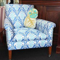 Claridge 'Blue Azul' Vintage Chair - ReVamp Vintage