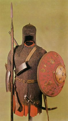 Armour and weapon of the Polish Pancerni cavalry, - century. Elmo, Turkish Military, Warrior Outfit, Thirty Years' War, Ancient Armor, Knight Armor, Arm Armor, Islam, Historical Pictures