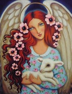 Whimsical Paintings Art Angels | Found on lizzelberry.blogspot.nl