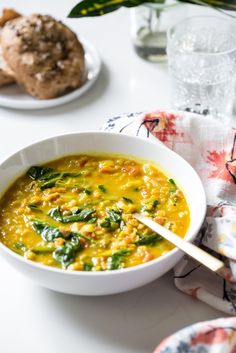 This Glowing Spiced Lentil Soup is so quick and easy, not to mention one of my favourite healing soups of all time! #vegan #glutenfree By: Angela Liddon of OhSheGlows.com