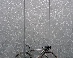 bike + pattern. Laser cut metal.