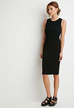 Ribbed Knit Varsity-Trim Dress | Forever 21 Contemporary - 2000096223