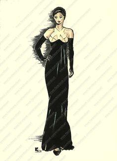 Fashion illustration from Jean Paul Gaultier design.