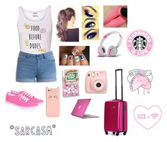 """""""Traveling in the day """" by a-angel ❤ liked on Polyvore featuring Pieces, DOT-DROPS, Speck, Kate Spade and Vans"""